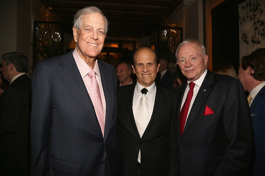 David Koch, Mike Milken, Jerry Jones